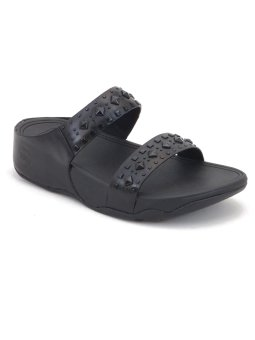 Fitflop biker chic slide. black